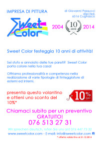flyer 10 anni Sweet Color